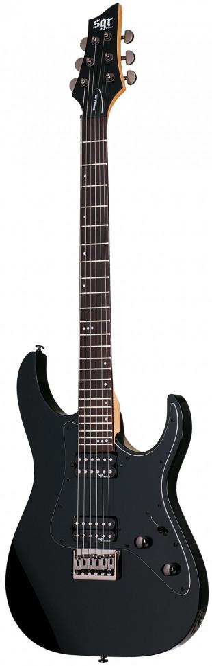 Schecter BANSHEE-6 SGR BLK Гитара электрическая, 6 струн, корпус липа, гриф клен, лады 22 Medium