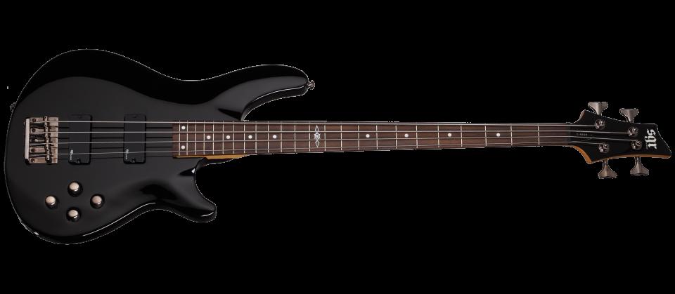 Schecter SGR C-4 BASS BLK Гитара бас, 4 струны, корпус липа, гриф клен, лады 24 Medium, мензура 34